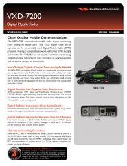 VXD-7200 Digital Mobile Radio
