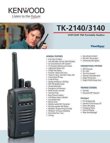 TK-2140/3140 VHF/UHF FM Portable Radios