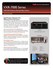 VXR-7000 Series VHF/UHF Desktop Repeater/Base Station