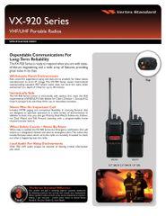 VX-920 Series VHF/UHF Portable Radios