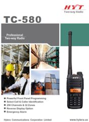 TC-580 Professional Two Way Radio