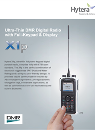 X1p -Ultra Thin DMR Digital Radio with Full Keypad & Display