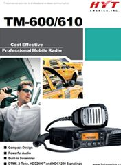 TM-600/610 Proffesional Mobile Radio