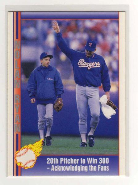 1991 Pacific Ryan Texas Express I 67 Nolan Ryan20th Pitcher To Win 300
