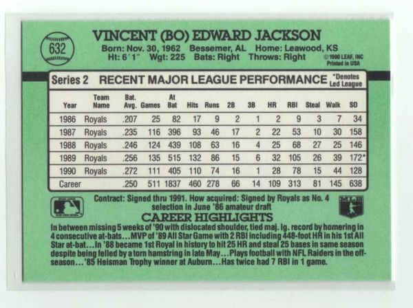 1991 Donruss #632 Bo Jackson
