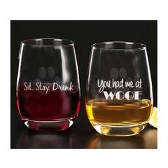 Sit.Stay. Drink Glassware