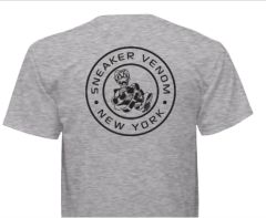 Sneaker Venom New York, Round Logo Grey T-Shirt