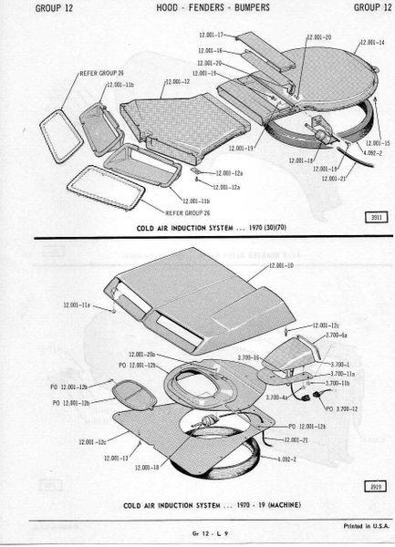 1970 Amx Ram Air Induction Muscle Car Air Cleaner