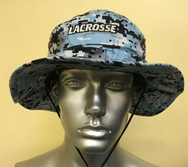 Light Carolina Blue Lacrosse Digital Camo Bucket Hat