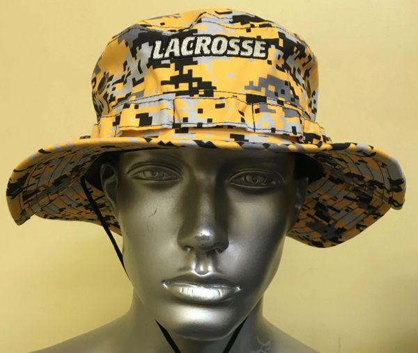 Yellow Gold Lacrosse Digital Camo Bucket Hat