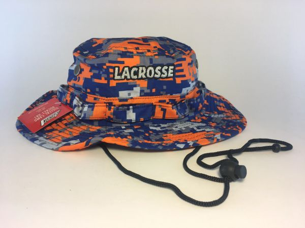 Syracuse colors Orange/Royal Lacrosse Digital Camo Bucket Hat