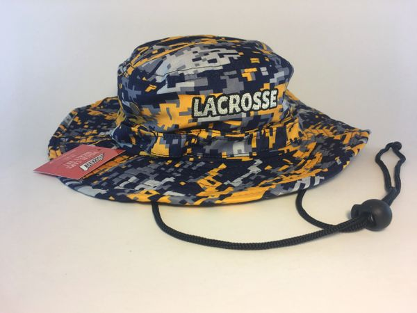 Michigan colors Navy/Gold Lacrosse Digital Camo Bucket Hat