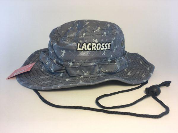 Grey Lacrosse Player Logo Bucket Hat