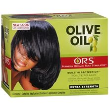 Organic Root Stimulator Olive Oil Built-In Protection No-Lye Hair Relaxer System