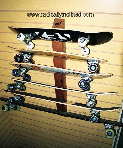 wood skateboard storage racks for the home  2fb5f95b533