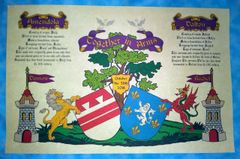 Conjugal Coat of Arms with History