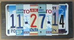 U. Anniversary/Birthday 6 Number Custom Date Sign