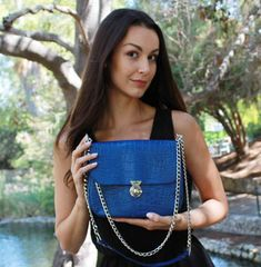 Royal Blue Vanna Bag - Chain Reaction