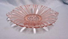 CANDY DISH: Pink Depression Old Cafe Candy Dish by Anchor Hocking Tab Handles
