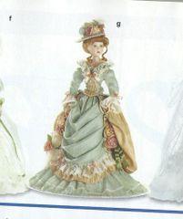 "COLLECTIBLE DOLL: 2011 Porcelain Collectible Victorian 22"" Doll - Celeste"