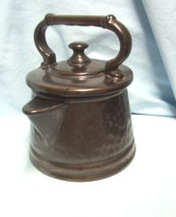 "COOKIE JARS: McCoy Pottery Bronze Tea Pot Tea Kettle 9"" Cookie Jar USA"