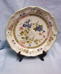 DINNER PLATES: Set of (4) Floral Dinner Plates by Mikasa Heritage 2006 - Imari Bouquet Japan