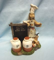 SALT & PEPPER SHAKERS: Whimsical Vintage 'Old Cook' Salt & Pepper Shakers
