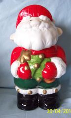COOKIE JAR - 1994 Santa Claus Collectible Vintage Christmas Cookie Jar