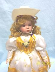 COLLECTIBLE DOLLS: Musical Porcelain Doll Cowgirl by Paradise Galleries - TANYA