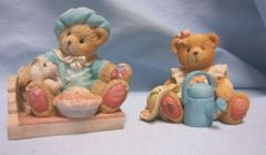 CHERISHED TEDDIES: 1993 Enesco Cherished Teddies - LITTLE JAKE HORNER & JAKE