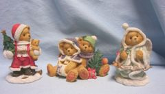 CHERISHED TEDDIES: 1996 Cute Christmas Cherished Teddies Figurines by Enesco