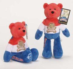 EURO COIN BEAR - NETHERLANDS Collectible Plush 20 Cent Euro Coin Bear