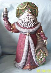 FATHER CHRISTMAS FIGURINE - 1994 Santa Claus Handcrafted Hand-painted Figurine