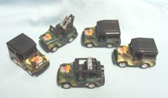 ACTION TOYS: Set (6) Mini Force Military Jeeps Pull Back Action by Junye Dongguan