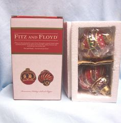 "COLLECTIBLE SHAKERS: Fitz & Floyd Salt and Pepper Shakers ""Renaissance Holiday"""