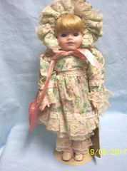 """COLLECTIBLE DOLLS: Porcelain 16"""" School Girl Doll by Seymour Mann's Connoisseur Doll Collection - MARY"""