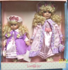 COLLECTIBLE DOLLS: Porcelain Sister Dolls by Treasures Lace - CHERISHED SISTERS