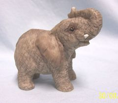 ELEPHANT FIGURINE: Collectible Elephant Wild Life Figurine with Great Detail