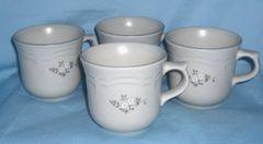 COFFEE CUPS /TEA CUPS Set of (4) PFALTZGRAFF Pattern Heirloom USA