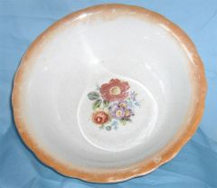 "SERVING BOWL: Vintage 10"" Diameter Vegetable Bowl Serving Bowl by Homer Laughlin"