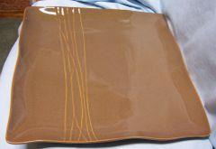 "PLATTER: Large 12 1/4"" Platter by Karen Neuburger - willow Collection (Brown/Earth)"