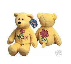 "LIMITED TREASURE BEAR - Plush Collectible 9"" Mini ""Mom"" Teddy Bear - LOVE 'YA MOM"