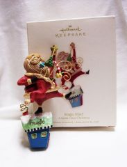 CHRISTMAS ORNAMENT - 2008 Hallmark MAGIC MAN Santa Claus Christmas Ornament