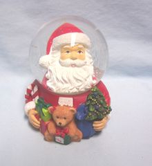 CHRISTMAS SANTA SNOWGLOBE: Unique Santa's Head Snowglobe, Snow Globe by Living Quarters