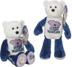 COIN BEAR #8 South Carolina State Quarter Collectible Plush Bear LIMITED TREASURES