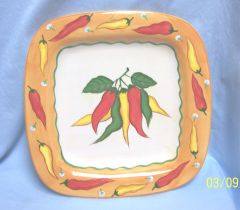 APPETIZER RELISH PLATE: Colorful Appetizer Relish Serving Plate by WCL