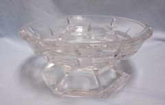 CANDY DISH: Vintage Lenox Gorham Lady Anne Full Lead Crystal Bowl Hexagon Base from Germany