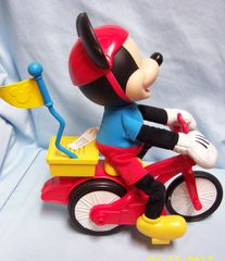 TOY: Disney Battery Mickey Mouse on his Sillie Wheelie Bike by Fisher-Price