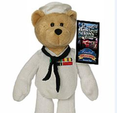 "LIMITED TREASURE BEAR: Collectible Military Plush Stuffed Navy Bear - COURAGEOUS 9"" Teddy Bear"