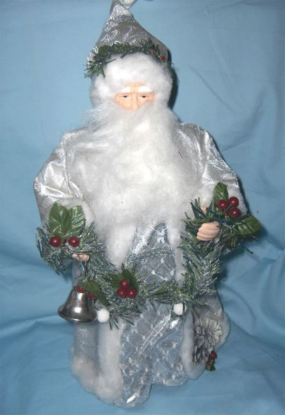 Christmas Tree Topper Vintage Holiday Decor 16 Porcelain Santa Tree Topper